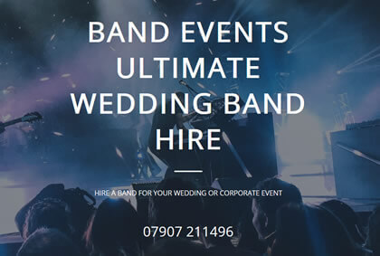 wedding band hire website